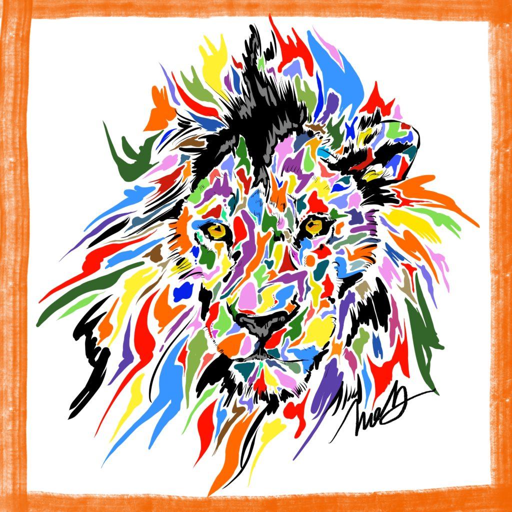 獅子(しし・ライオン)の絵