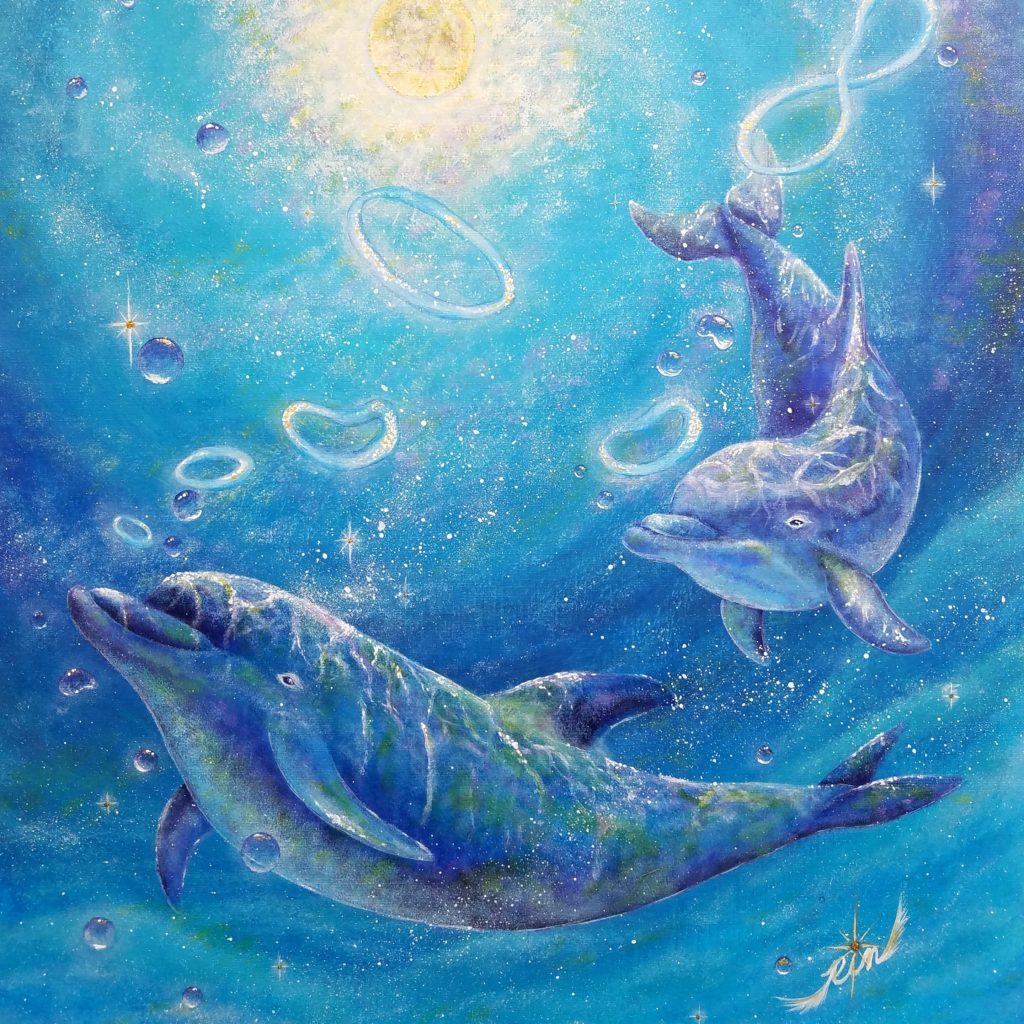 海豚(イルカ)の絵