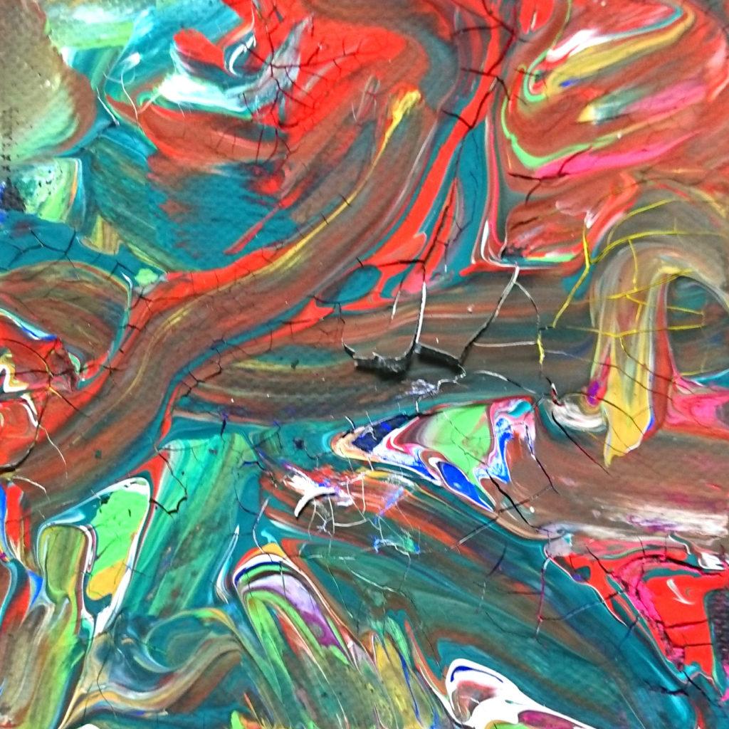 重厚感のある抽象画