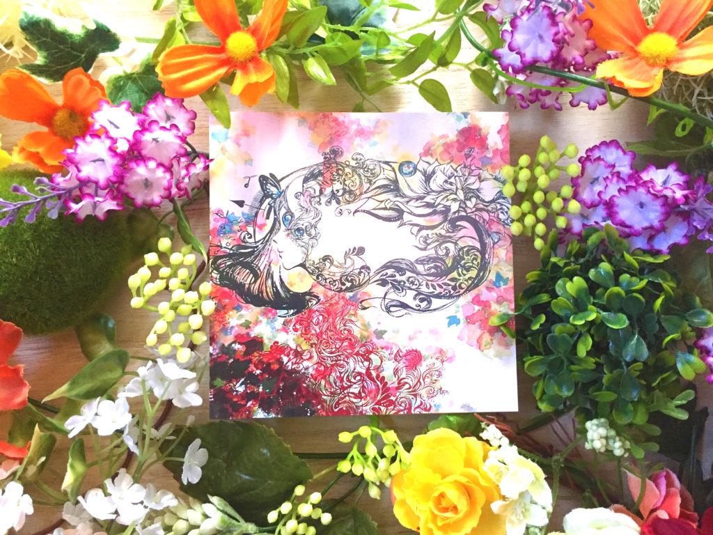 植物と絵画の融合