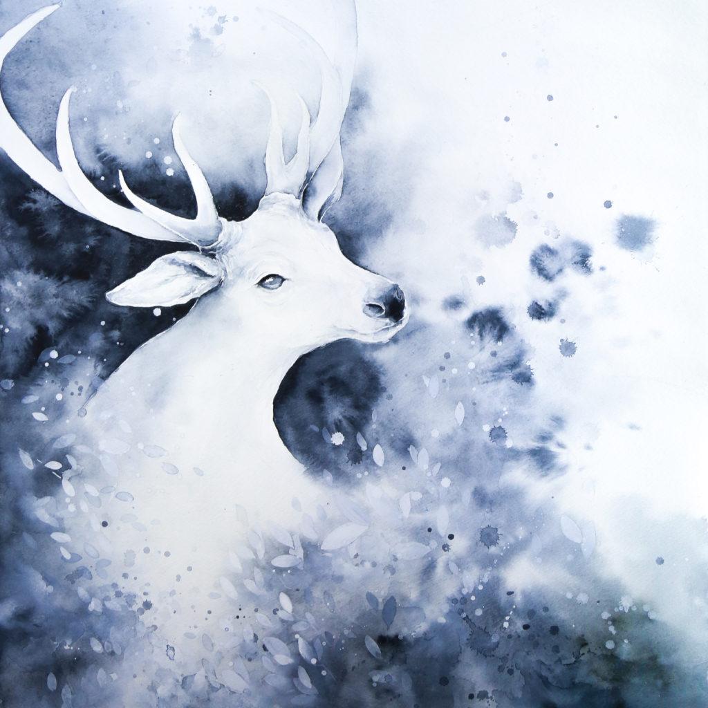 鹿(シカ)の絵
