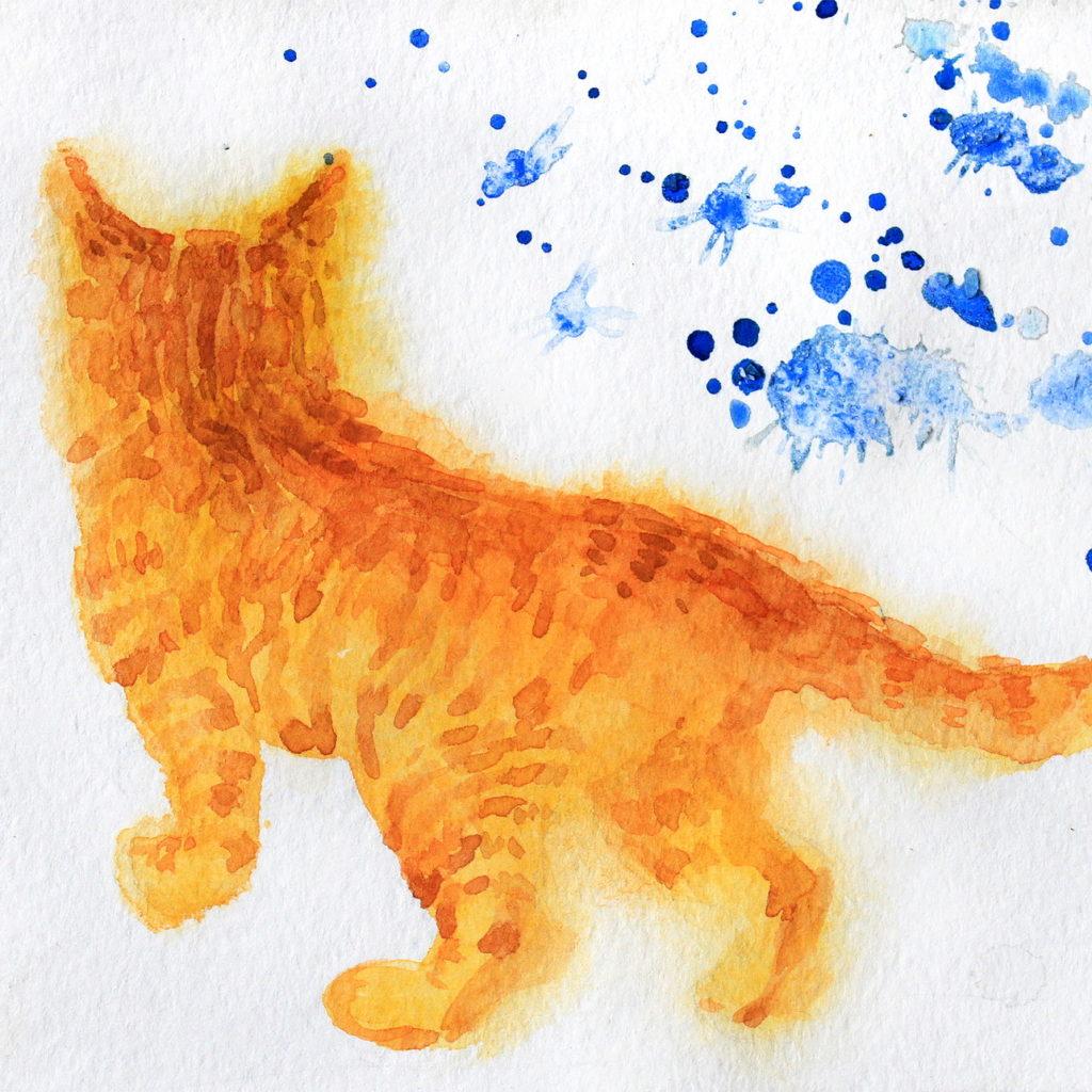 画家「ウリャーナ」の猫の絵