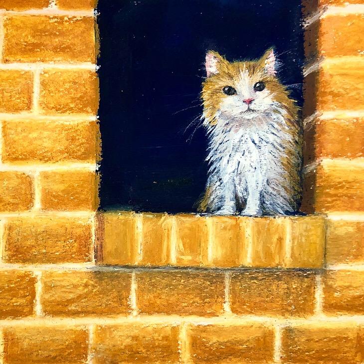 画家「ゆめの」の猫の絵