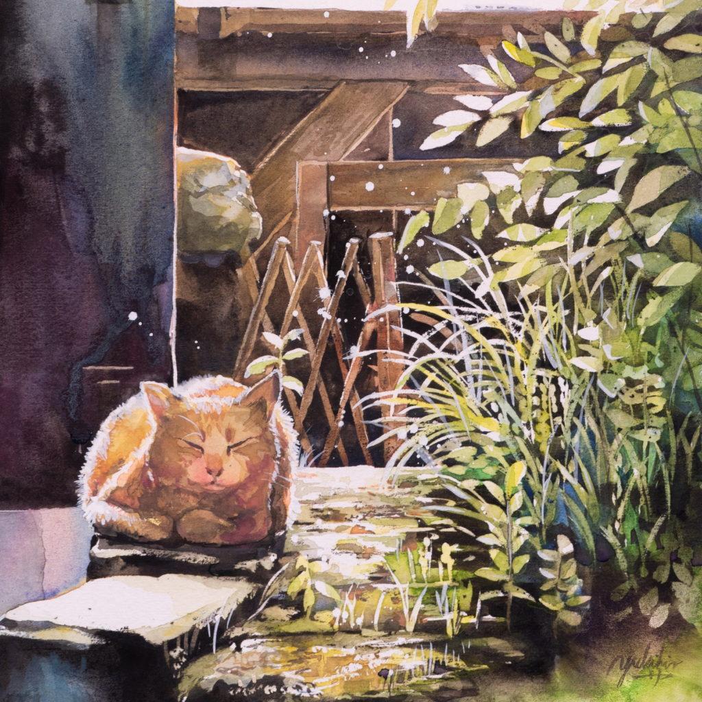 画家「平田幸大」の猫の絵