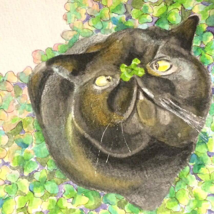 画家「ゆりんぐ」の猫の絵