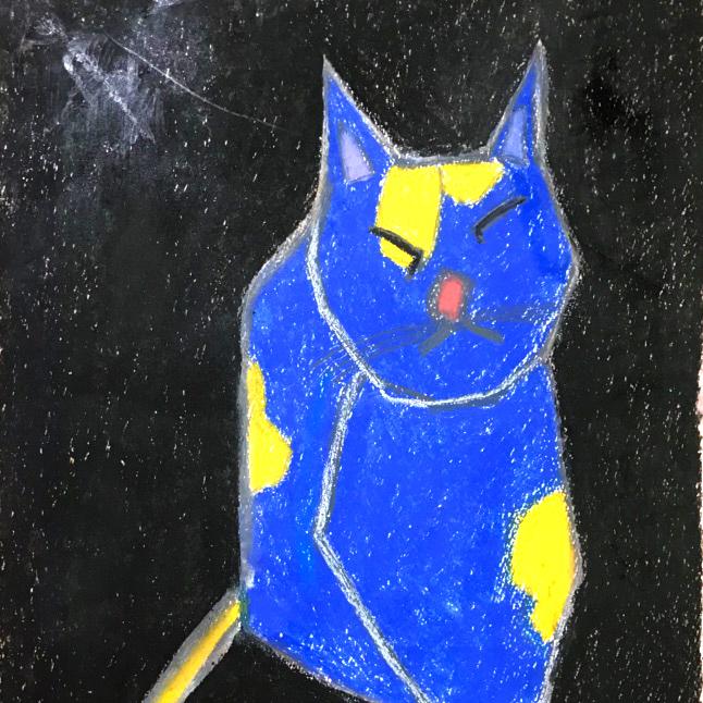 画家「Mitsuo Ito」の猫の絵